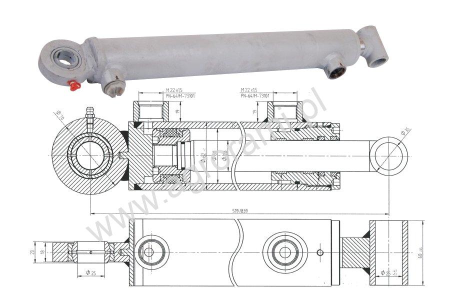 Siłownik hydrauliczny-chwytak Łęczyca