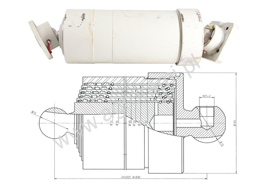 Siłownik hydrauliczny teleskopowy ST5/1530