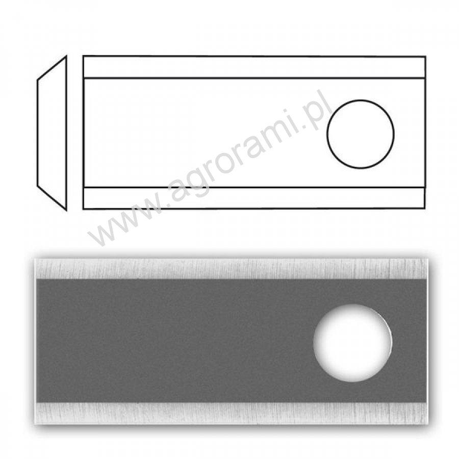 Nożyk kosiarki R GERPOL (25szt/paczka), 94 x 40 x 3 , Fi-19