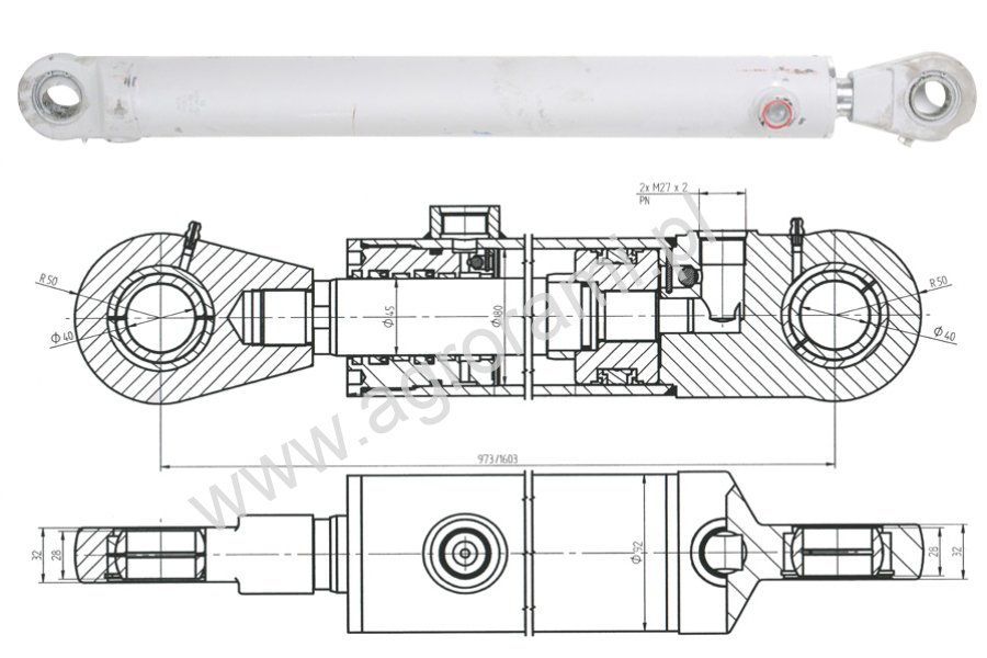 Cylinder CJ2F-80/45/630DGZ