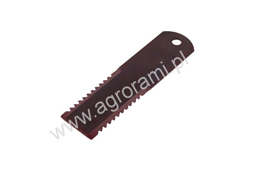Nóż sieczkarni RASSPE ząbkowany stały, H-195, Szer.50mm , otwór 12mm