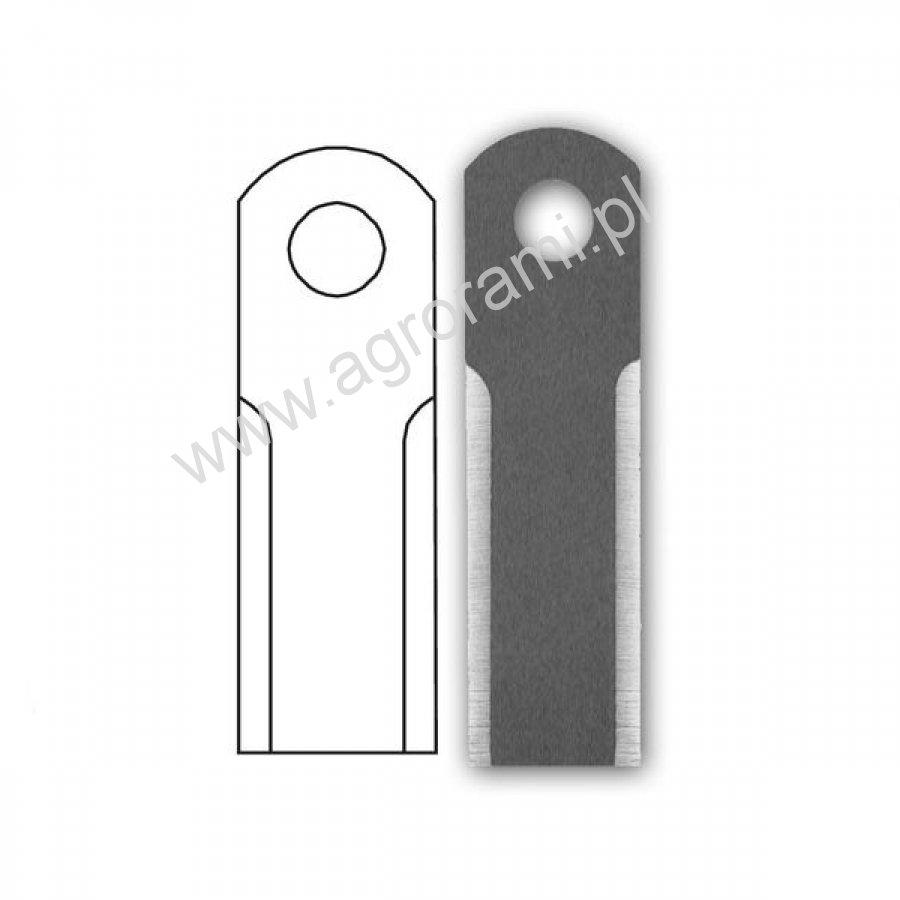 Nóż sieczkarni RASSPE gładki 3,5 mm, H-160.4mm, Szer.50mm, otw.20mm